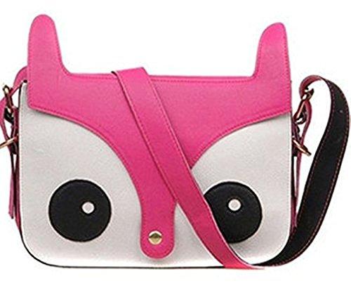Pink Owl Handbag Crossbody PU Cute Hot Animal Satchel Fox Leather RuiChy 4wqHv77