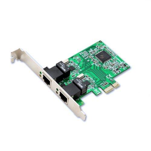 Syba Dual LAN Ports 1000-Base T Gigabit Ethernet Card Realtek Chipset (SD-PEX24033) PCc Personal Computer
