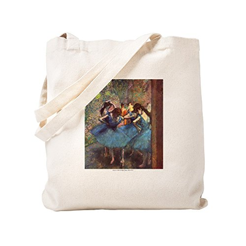 (CafePress Dancers In Blue Natural Canvas Tote Bag, Cloth Shopping Bag)