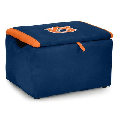 Kidz World Upholstered Storage Bench Toy Box Auburn University by Kidz World