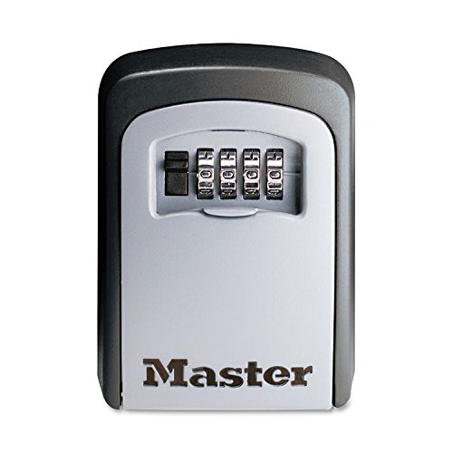 Master Lock 5401D Locking Combination 5 Key Steel Box, 3 1/4w x 1 1/2d x 4 5/8h, Black/Silver by MyDirectAdvantage
