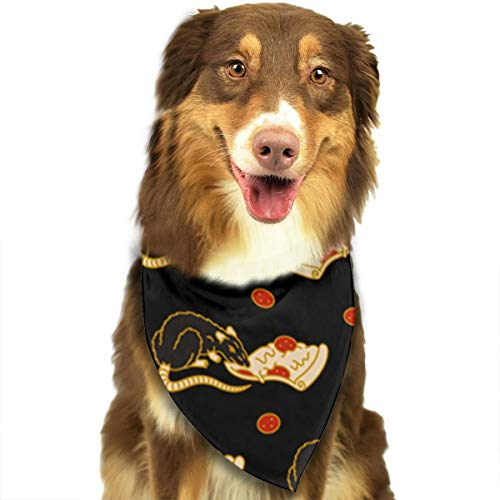 OURFASHION Pizza Rat Bonanza Bandana Triangle Bibs Scarfs Accessories for Pet Cats and Puppies.Size is About 27.6x11.8 Inches (70x30cm). -