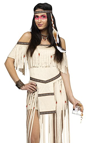 Fun World Costumes Women's Moon Dancer Adult Costume, Beige, (Moon Dancer Adult Costumes)