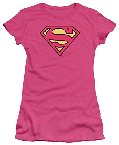 Dc Superman Classic Logo Officially Licensed Juniors T Shirt