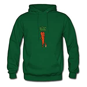 Custom Women The Carrot Vegetable Painting X-large Hoodies Green