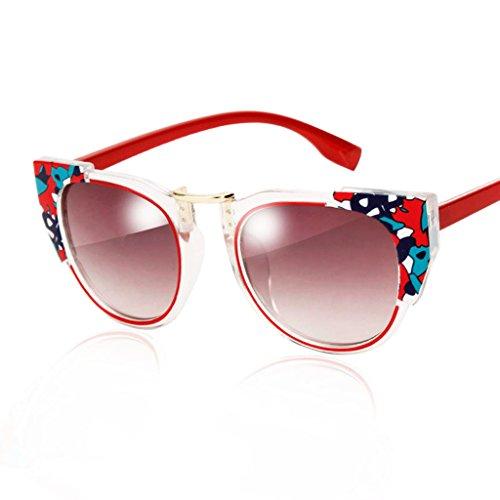 Lunettes C Coloré B boîte en Reflective de des Dentelle Soleil Transparente Sunglasses Couleur Retro Lunettes Soleil Color Lunettes de de Forme en 1wqaxU5g