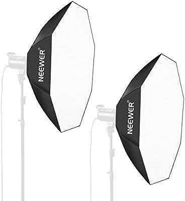 Neewer 80x80CM Caja de Luz Octogonal del Paraguas con Bowens Montura Speedring para Nikon, Canon, Sony, Pentax, Olympus, Panasonic Lumix, Neewer Flash y Otros Pequeños Flashes Estroboscópicos (2 Pack): Amazon.es: Electrónica