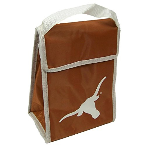 Forever Collectibles NCAA Texas Longhorns Big Logo Velcro Lunch Bag, Orange by Forever Collectibles