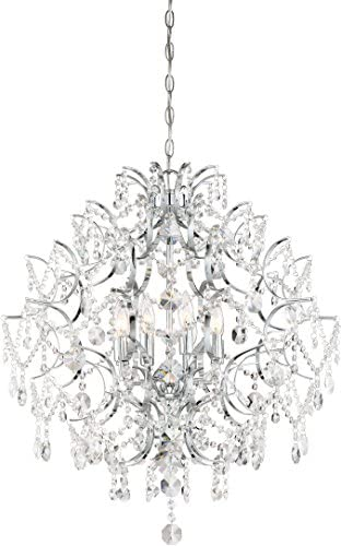 Minka Lavery Crystal Chandelier Lighting 3158-77 Isabella s Crown, 8-Light 480 Watts, Chrome