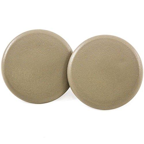 2 Rear Armrest Cover Caps Cashmere Tan 2007-2014 Compatible with GM Trucks & SUVs Arm Rest Snap