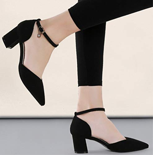 Klettverschluss Zhzz Hochzeit Party mit Serie Schwarz LIANGXIE Damen Komfort Klassische Sandalen Durchbrochene für Schuhe w7ntg0Eq