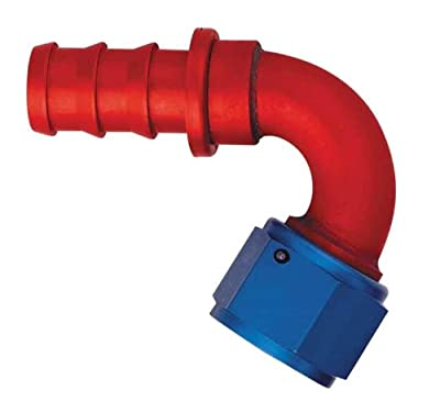 Aeroquip FCM1543 Red and Blue Anodized Aluminum -08AN 120-Degree Socketless Hose Fitting