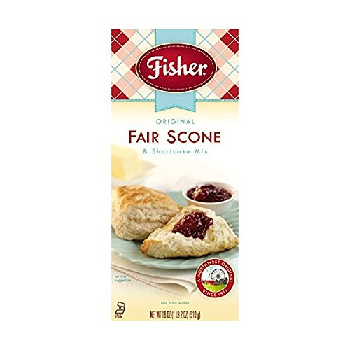 Fisher All Natural Original Fair Scone and Shortcake Mix, 18 Ounces, Pack of 6