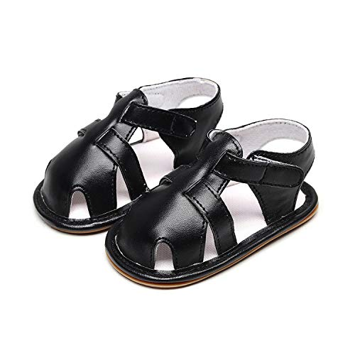 Endand New Summer Kids Baby Boys Sandals Canvas Children Sandals for Boys Casual Toddler Shoes Fashion Breathable First Walkers,Black,3.5