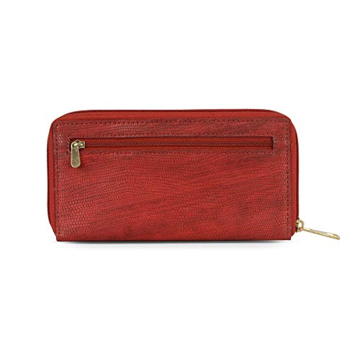 Baggit Autumn-Winter 2020 Faux Leather Women's 3 Fold Wallet (Red) (Lwxe Pinga)