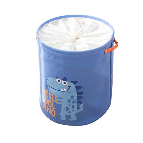 Ktyssp Eva Double Thick Hamper Beam Mouth Fabric Storage Basket Folding Cartoon Laundry Basket Toy Storage Basket (Blue)
