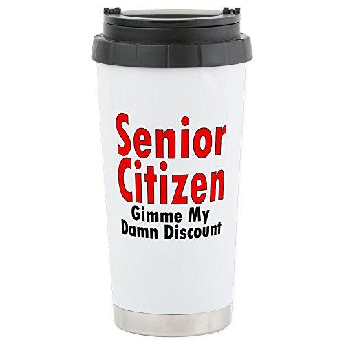CafePress - Seniordiscountshirt - Stainless Steel Travel Mug, Insulated 16 oz. Coffee (Retired Damn Discount)