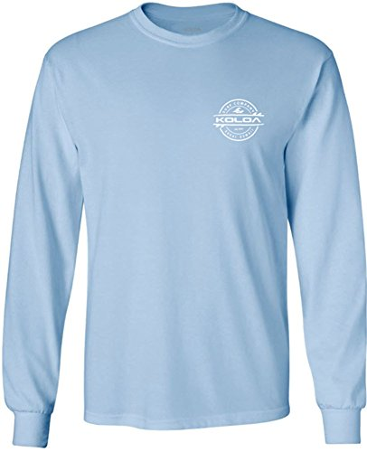 Joe's USA Koloa Long Sleeve Thruster Logo Heavy Cotton T-Shirts. Regular, Big & Tall