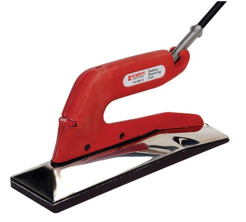 Roberts 10-282G-2 Deluxe Heat Bond Carpet Iron with Non-Stick Grooved Base