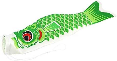 風ソックス旗吹き流しカープカラフルな和風ミニこいのぼりギフト魚風ストリーマーホームパーティーの装飾 GBYGDQ (Color : Green)