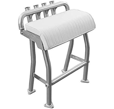 Amazon Com Dolphin T Tops 29 Leaning Post Bench Seat Integrated 4 Rod Holders Fits Most Fishing Center Console And Bay Boats Heavy Duty Anodized Aluminum Length 29 Inch Width 15 7 Inch