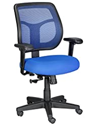 Eurotech Seating Apollo MT9400-BLUE Midback Swivel Chair, Blue
