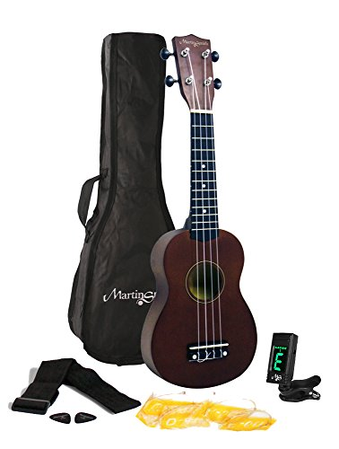 Martin Smith 312 Ukulele Starter Kit – Includes lessons, tuner, strap, spare strings and gig bag. Natura by Martin Smith