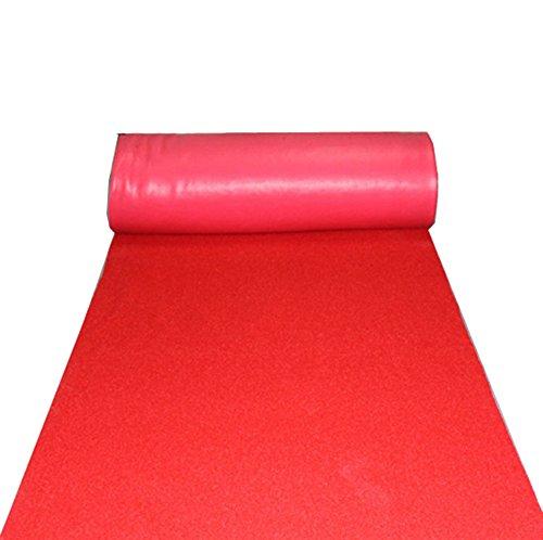 GYP ノンスリップラバーワイヤーリングロングカーペット、1.2Mワイドカーペットプラスチックのロールダストバスルームフットマット屋外ドアホームドアグラウンドマットドアマットオープニングセレモニーウェディングセレブレーションコマーシャルカーペット耐久性 ( 色 : 赤 , サイズ さいず : 1.2*4M )   B07B9RRC3D