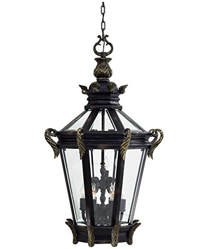 Minka Lavery 9094-95 Outdoor Light Chain Hung Lighting, Heritage With Gold Highlights Finish ()