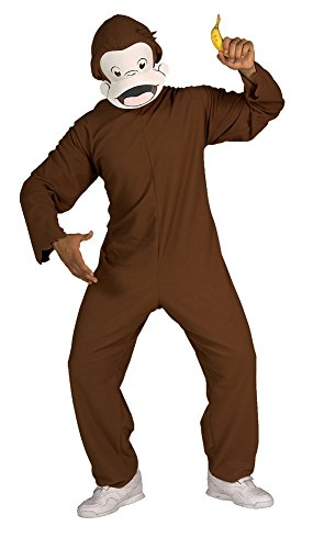 Adult-Costume Curious George Adult Costume Standard Halloween Costume (Curious George Costume For Adults)