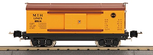 - MTH Tinplate 1:48 O Scale Box Car Yellow Brown Reefer Car Model #10-8002