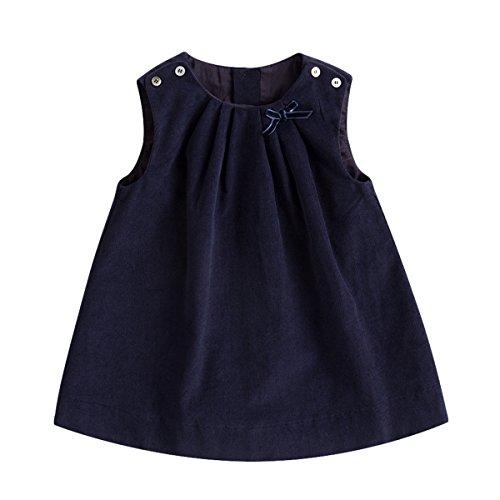 Blue Corduroy Dress - marc janie Baby Toddler Girls' Corduroy Dress Solid Sleeveless A Line Dress Deep Navy 18-24 Months