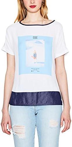 edc by Esprit 057cc1k006 Camiseta, Blanco (White), 44 (Talla del Fabricante: XX-Large) para Mujer: Amazon.es: Ropa y accesorios