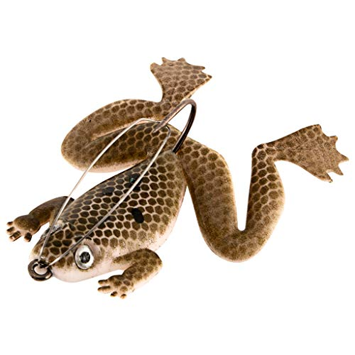 GONGting Frog Lures 2.4-Inch, Soft Fishing Lure for Bass Pike Snakehead Dogfish Musky (C) ()