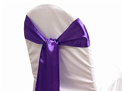 amazon com mds pack of 50 satin chair sashes bow sash for wedding