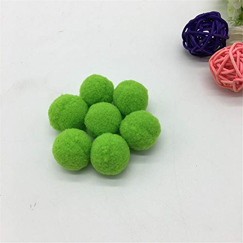 (MOPOLIS 30Pcs 1 25mm Pompom Fur Craft DIY Soft Pom Poms Home Accessories Pick color | Color -)