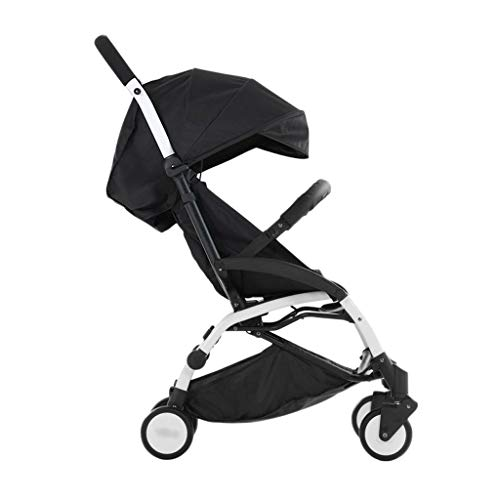 Comfortable Pushchair Baby Strollers Ultralight Easy Pocket Pushchairs Prams Portable Strollers Buggies Folding Can Sit Children Kids Travel Pushchair (Color : Black, Size : 26.7715.7440.55inchs)