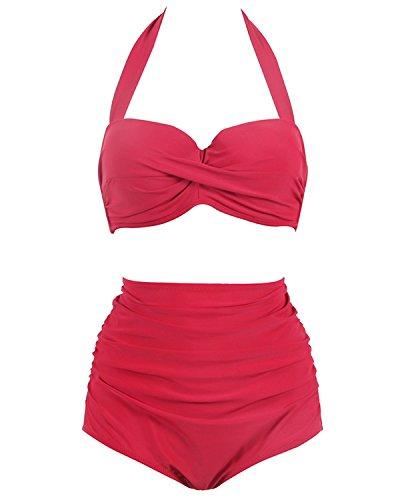 High Waisted Polka Dot Bikini Set in Australia - 7