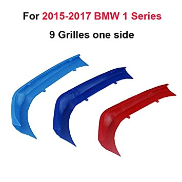 For BMW 1 Series F20 F21 116i 118i 125i M135i 2012-2014 M Color Front Grille Grill Cover Insert Trim Clips 3Pcs 8 Grilles