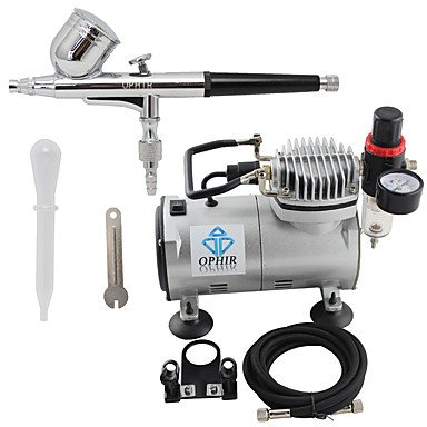 WST 110V,220V Dual Action Airbrush Compressor Kit for Airbrushing Tattoo Hobby Cake Decoration , 220v by ZHUQUE