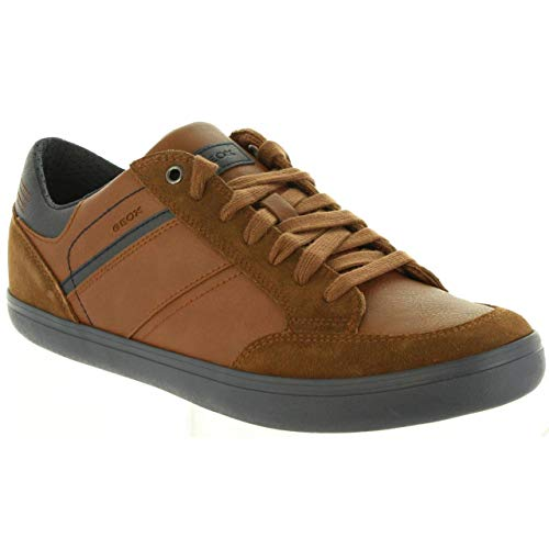 Cognac Box C6176 Sneakers U Navy Basses F Geox Marron Homme w0BCq75