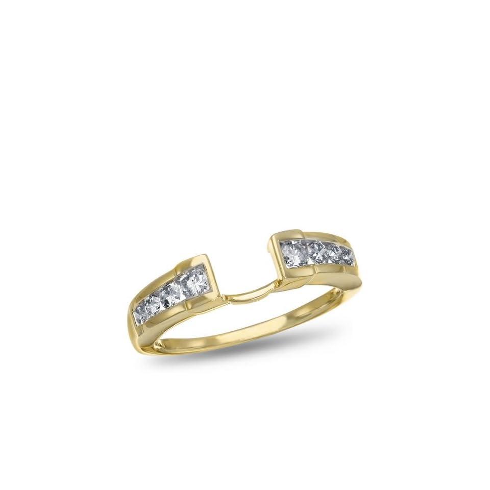 14K Yellow Gold I2 Round Diamond Ring Wrap, 1/2 ctw