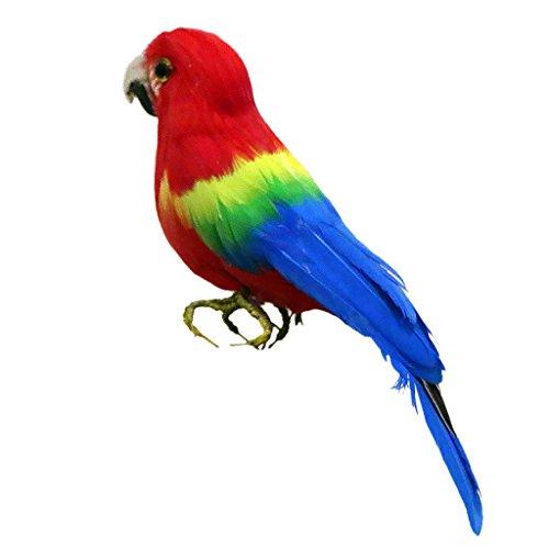MonkeyJack Artificial Bird Feathered Realistic Garden Home Decor Ornament 7 Types - Parrot #4