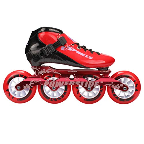 - HONGAO Carbon Fiber Speed Roller Skates/Professional Speed Roller Skates - Premium Inline Skate - Universal for Adults and Children (Black, red, Pink, Yellow) (red, 43)