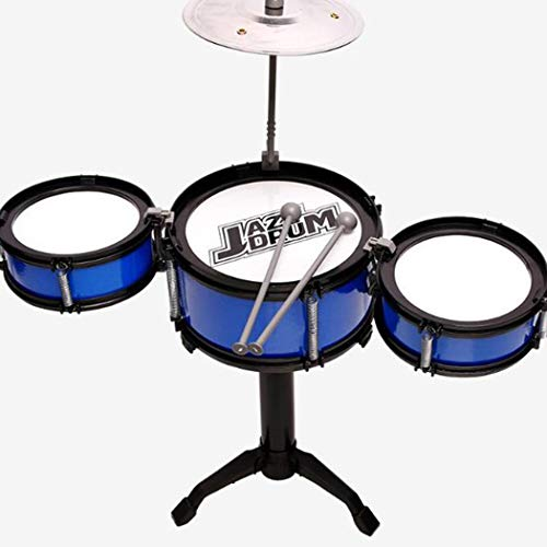 Retires Mini Kids Drum Set, Mini Toy Jazz Drum Early Educational Musical Instrument,Motor Development, Creativity, Musical Skill Drum, Tom Drums, Snare, Cymbal, Stool