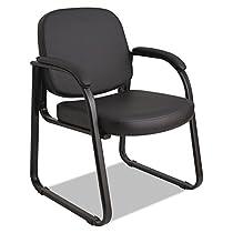 Alera 2824G Genaro Series Sled Base Guest Chair, Black Vinyl