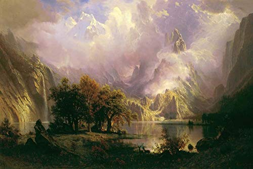 Rocky Mountain Landscape by Albert Bierstadt Art Print, 18 x 12 inches