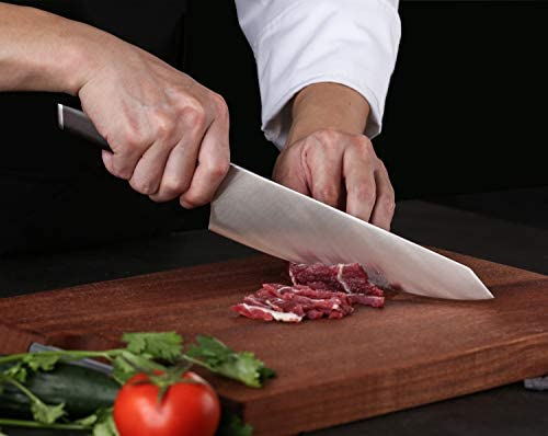 Kitchen knife set, Professional 3-Piece Knife Set with 8 Inches Chef Knife-Sharp Blade with Ergonomic Wood Handle-Germany 1.4116 Molybdenum Vanadium Steel