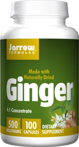 Ginger 100 Capsules (Jarrow Formulas Ginger, Supports Gastroinestinal Health, 500 mg, 100 Caps)