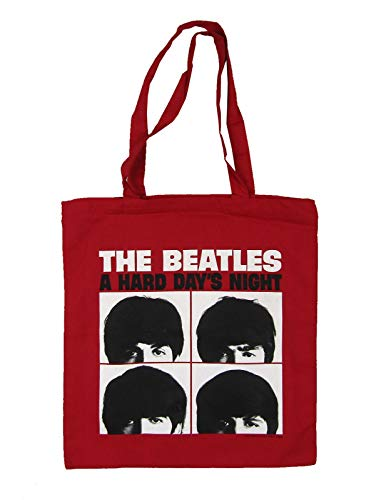 Beatles A Hard Days Night Album Cover Red Tote Bag